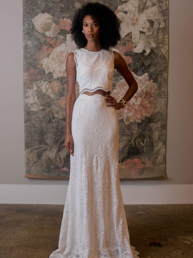 c1624cd5dff BHLDN Spring 2019 Collection  Bridal Fashion Week Photos
