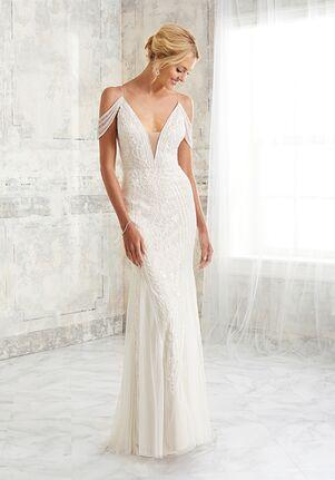 Adrianna Papell Platinum Destination 40271 Sheath Wedding Dress