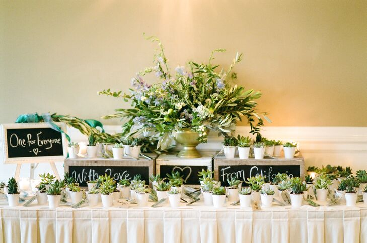 Groovy Display Table With Succulent Wedding Favors Complete Home Design Collection Epsylindsey Bellcom