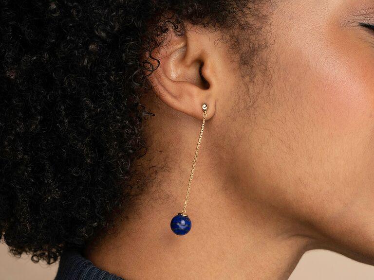 Mejuri blue lapis earrings