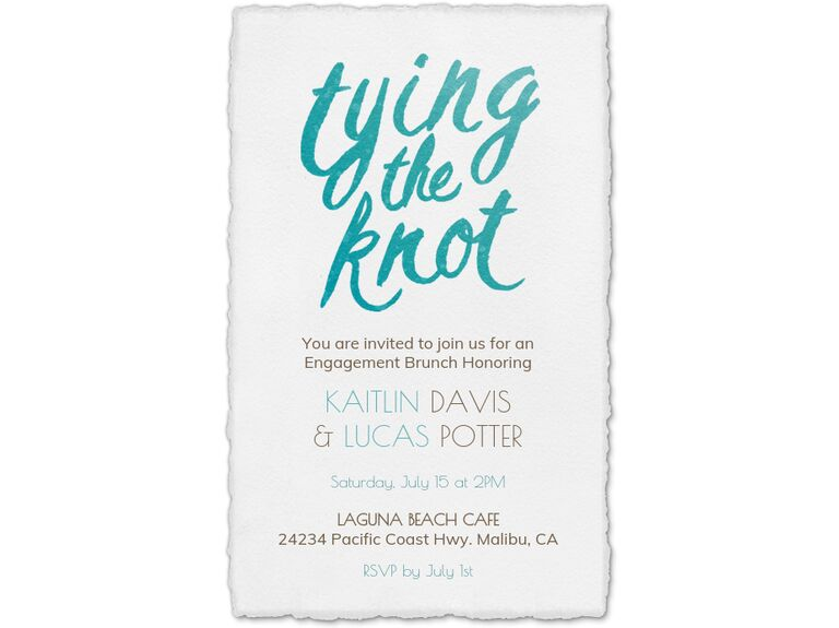 Tying the Knot digital engagement party invitation