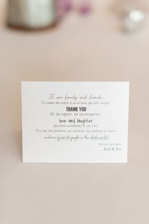 Place Card Thank-You Notes