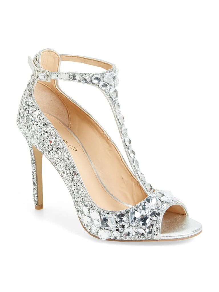 d8ab743c39a0e 33 Sparkly Wedding Shoes to Glitter Down the Aisle In