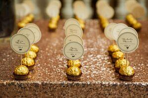 Gold Foil Chocolate Wedding Favors