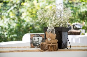 Rustic DIY Baby's Breath Center[pieces