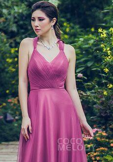 CocoMelody Bridesmaid Dresses PR3496 Halter Bridesmaid Dress