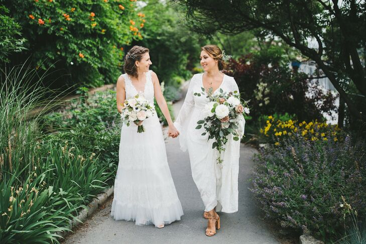 Romantic Brides in Lace Gowns
