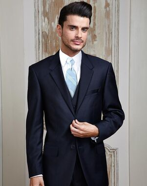 BLACKTIE MADISON Midnight Navy Wedding Suit Blue Tuxedo