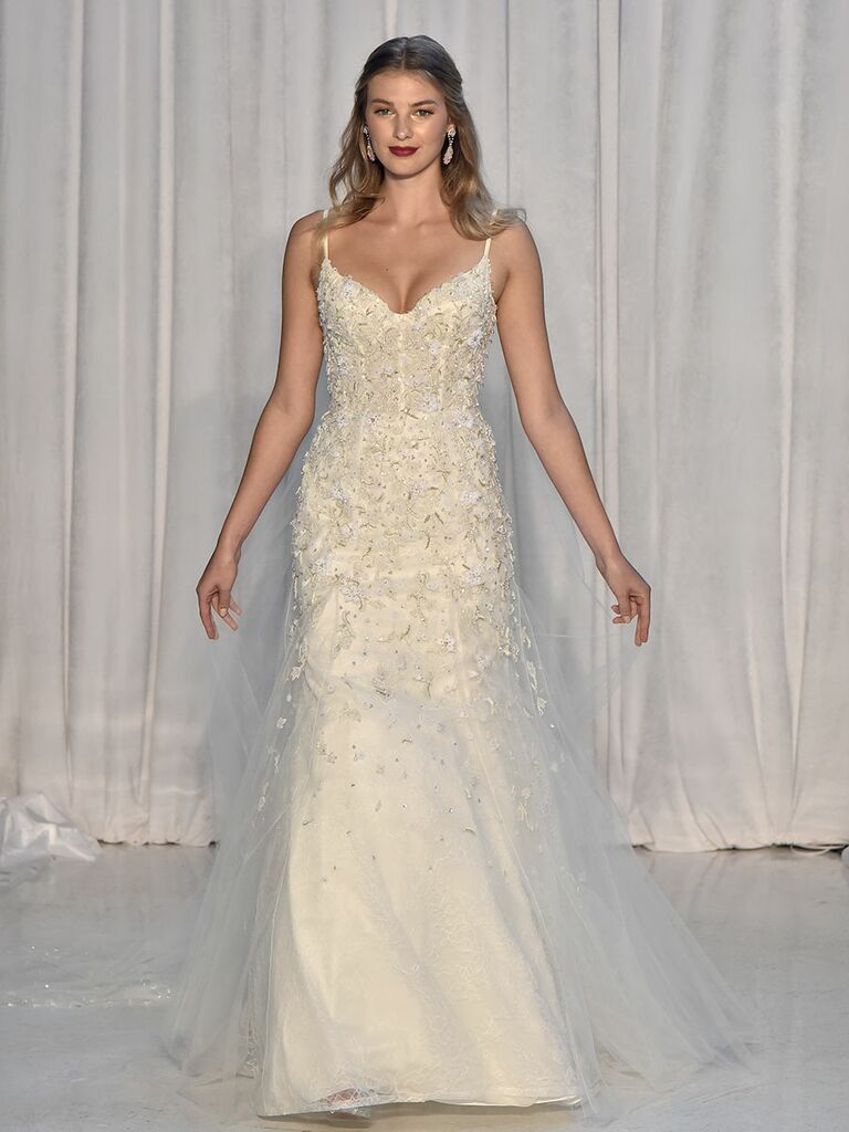 c44c458f00ea Anne Barge Fall 2018 wedding dresses with ornate embroidery