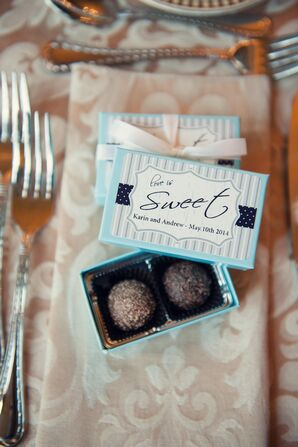 Chocolate Ball Wedding Favors