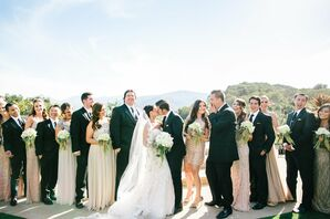 Blush and Black Wedding Party