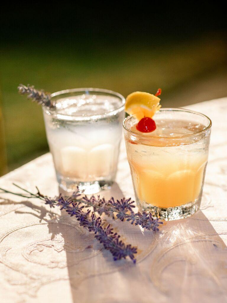wedding drink ideas lavender lemonade