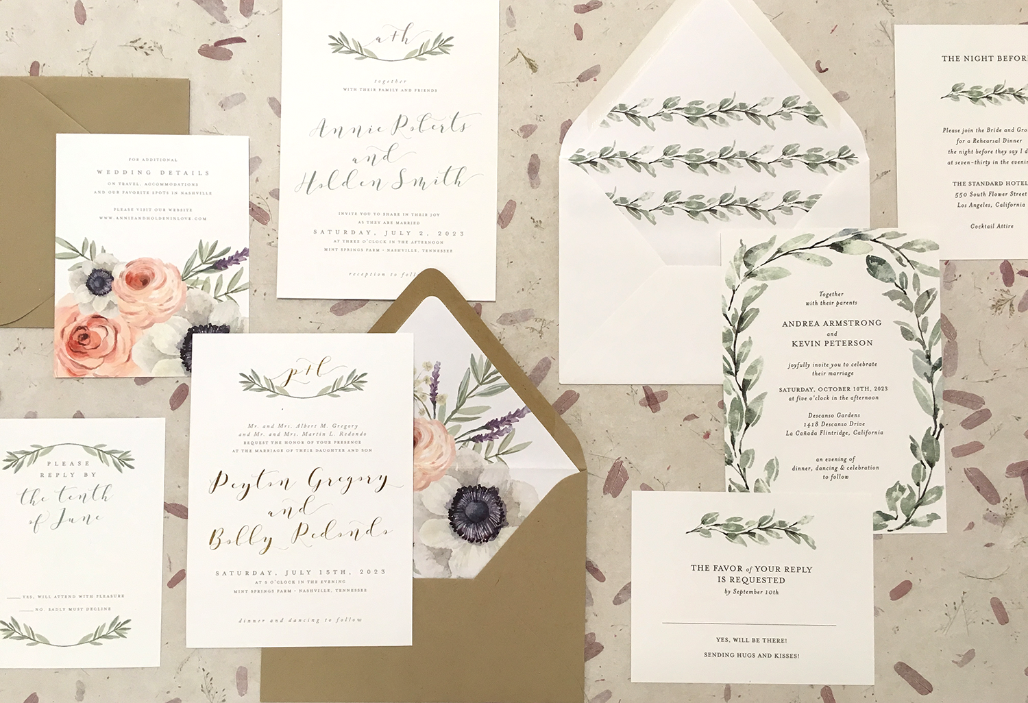 Invitations paper in philadelphia pa the knot whimsy greenville monicamarmolfo Choice Image