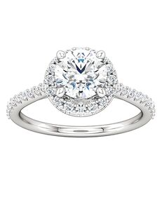 ever&ever Unique Round Cut Engagement Ring