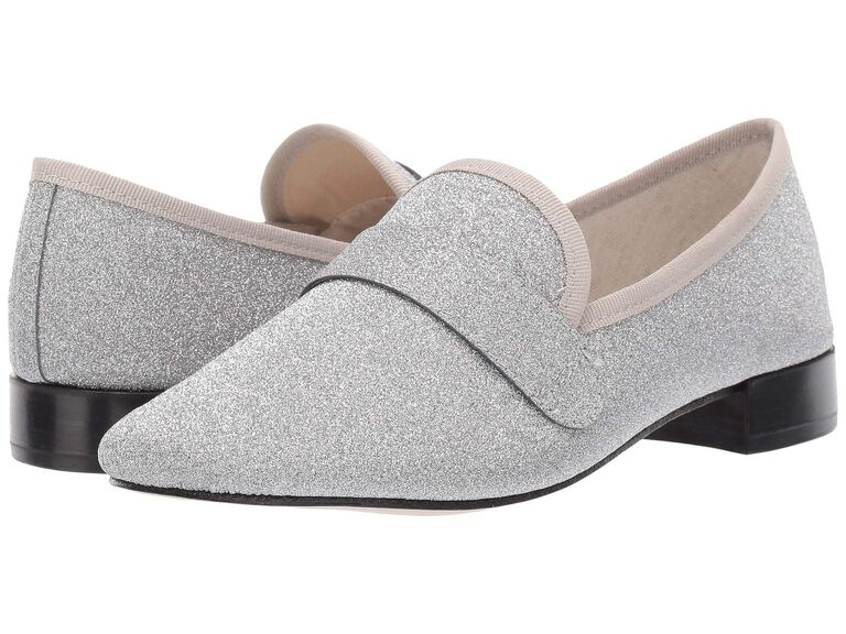 Sparkly glitter women's wedding loafers