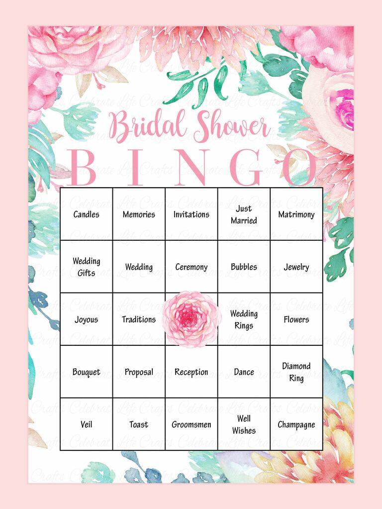 photograph about Free Printable Bridal Shower Bingo identify 10 Printable Bridal Shower Game titles in direction of Do it yourself