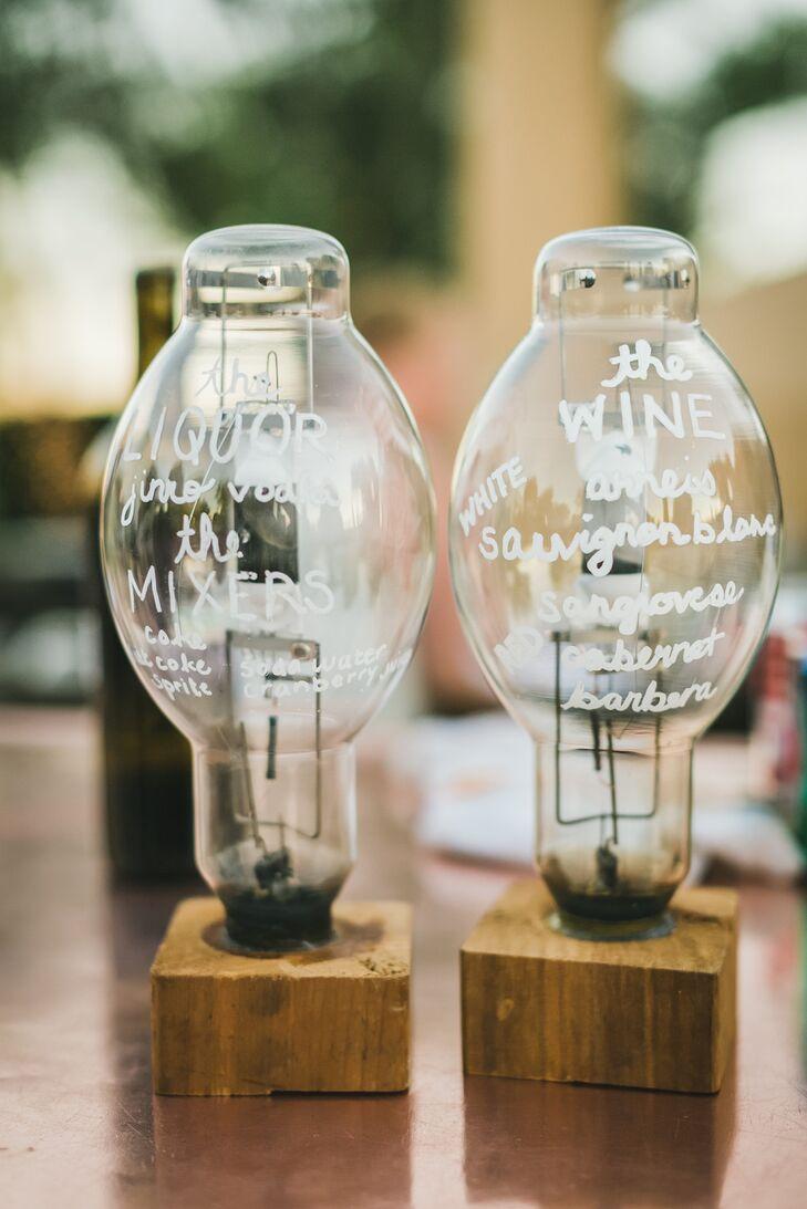 Glass Lightbulb Calligraphy