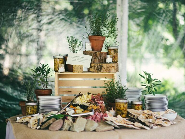 Family-style grazing table food and drinks trends Pinteres trends 2019