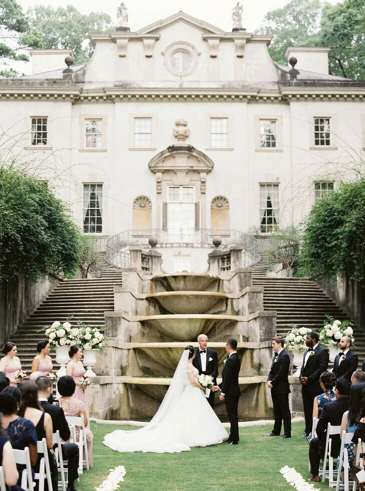 Wedding Ceremony at The Swan House in Atlanta, Georgia