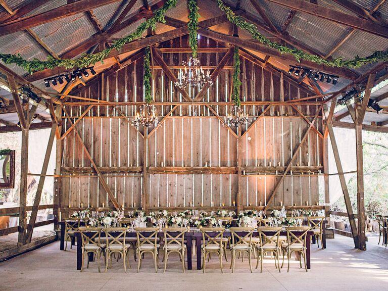 Luxe, rustic reception venue