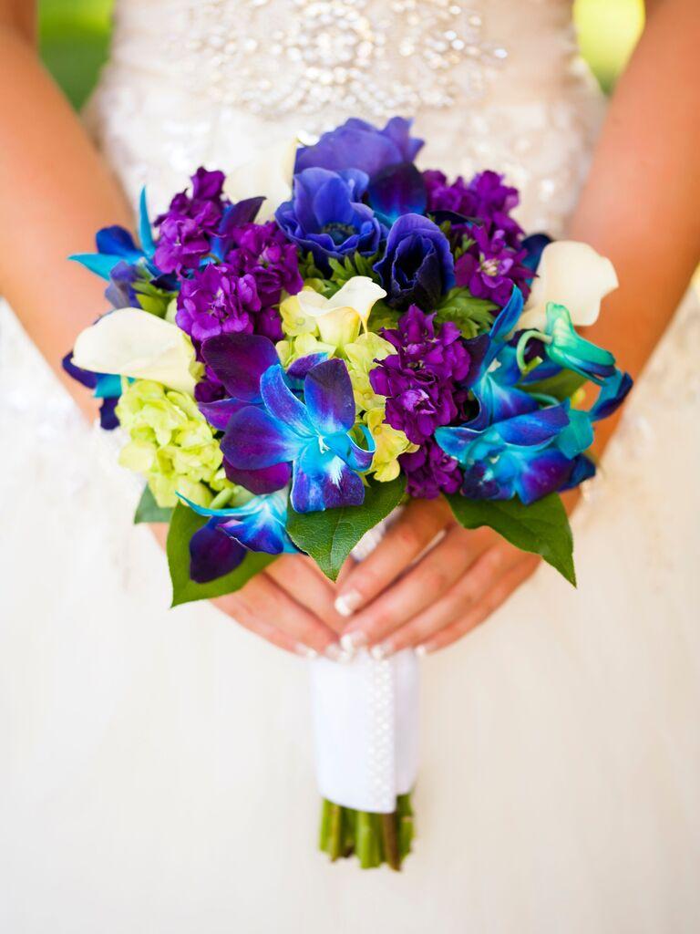 Tie-dye orchid bouquet