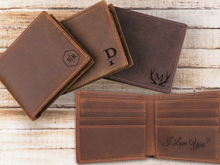 customized leather mens wallet
