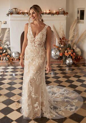 Beloved by Casablanca Bridal BL345 Amethyst Sheath Wedding Dress