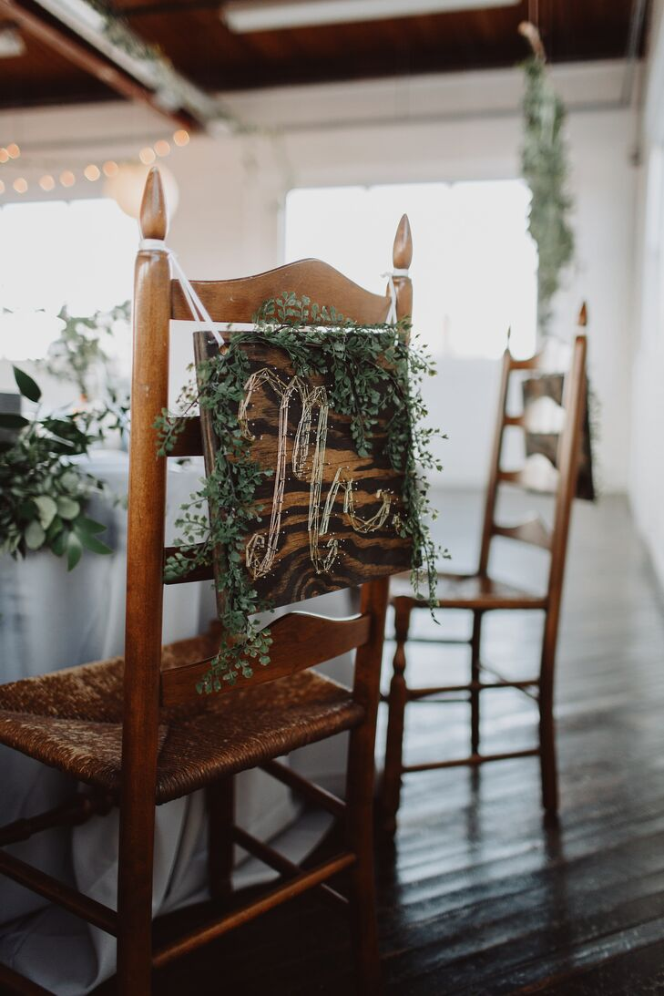 Whimsical String Art Chair Signs