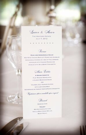 Simple Clean Menu Card