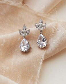 USABride Fleurette CZ Bridal Earrings (JE-4163-S) Wedding Earring photo