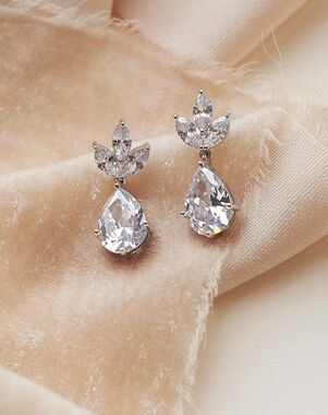 Dareth Colburn Fleurette CZ Bridal Earrings (JE-4163-S) Wedding Earring photo