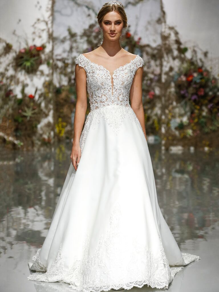 Morilee by Madeline Gardner Spring 2020 wedding dress with bateau neckline