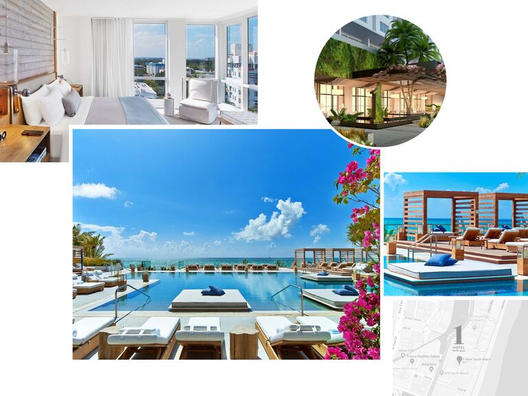 photo collage of 1 Hotel South Beach in Miami, Florida