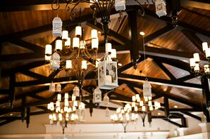 Whimsical Hanging-Lantern Reception Lighting