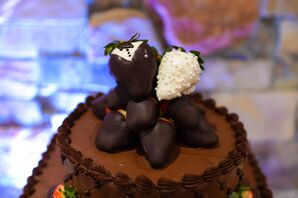 Chocolate-Covered Strawberry Wedding Cake Topper