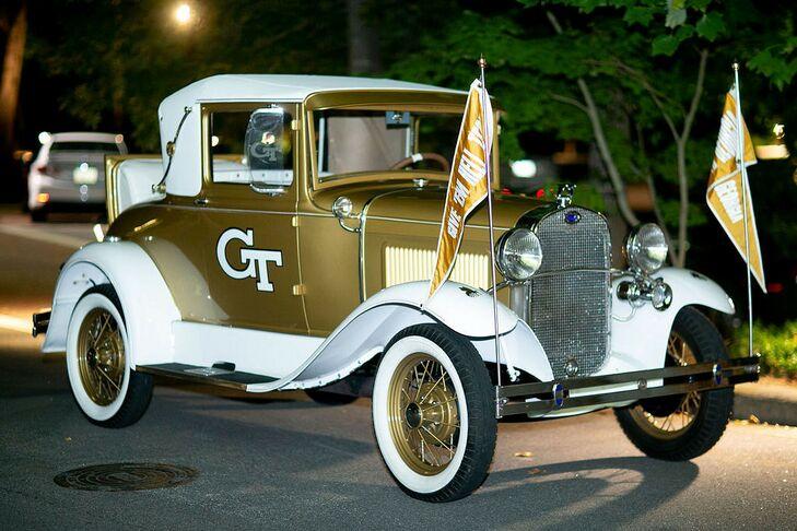 Vintage Gold Georgia Tech Getaway Car  at The Swan House in Atlanta, Georgia