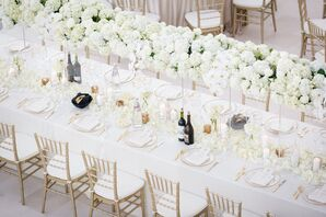 All-White Wedding Reception