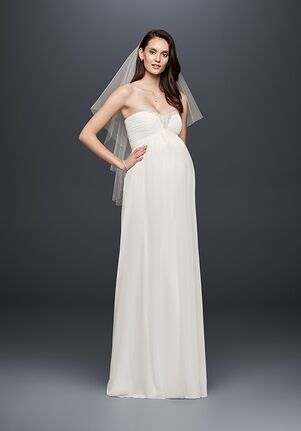 David's Bridal David's Bridal Style WG3882 Sheath Wedding Dress