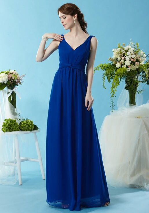 Eden Bridesmaids 7450 V Neck Bridesmaid Dress