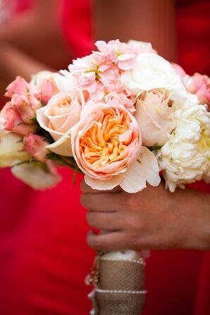 Rose, Hydrangea and Chrysanthemum Pink Bouquet