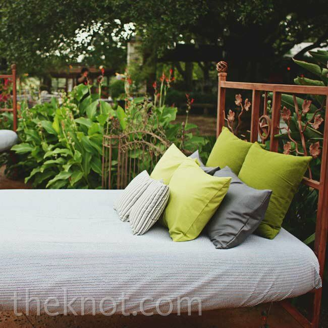 Comfortable beds were the ultimate way to create a laid-back mood during the reception.