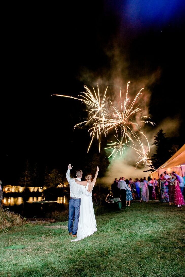 Fireworks Display at Lakefalls Lodge in Stoddard, New Hampshire