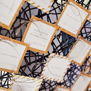 Vintage Graphic Escort Cards