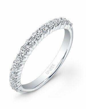Uneek Fine Jewelry UWB07 White Gold Wedding Ring