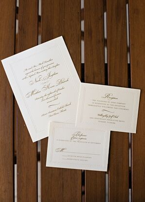 Simple Invitation Suite with Raised Border
