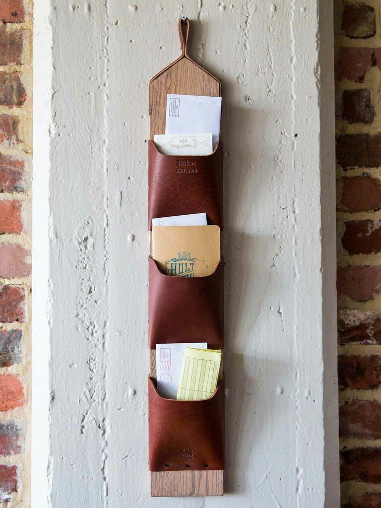 Wall-mounted mail organizer