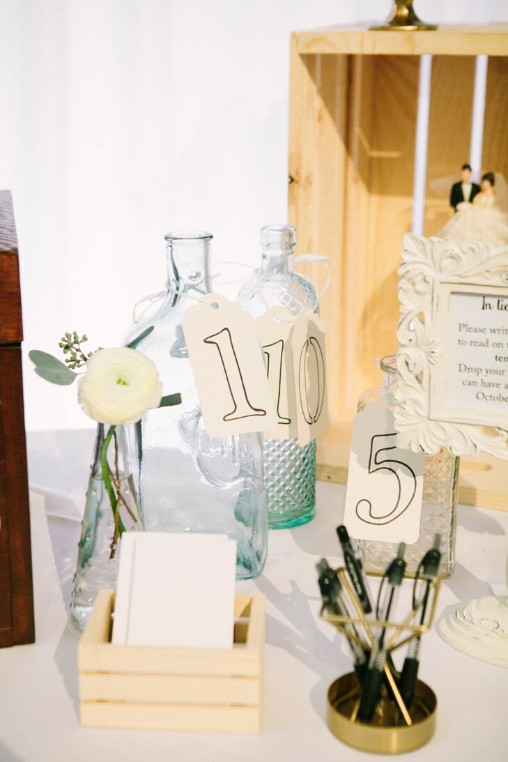Vintage Message in a Bottle Guest Book