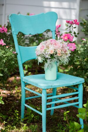 Rustic Painted Wooden Chair