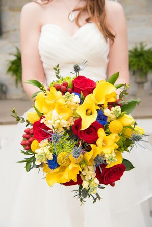 Vibrant Primary Color Bouquet