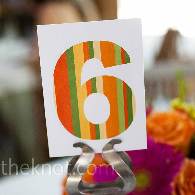 Retro Table Numbers
